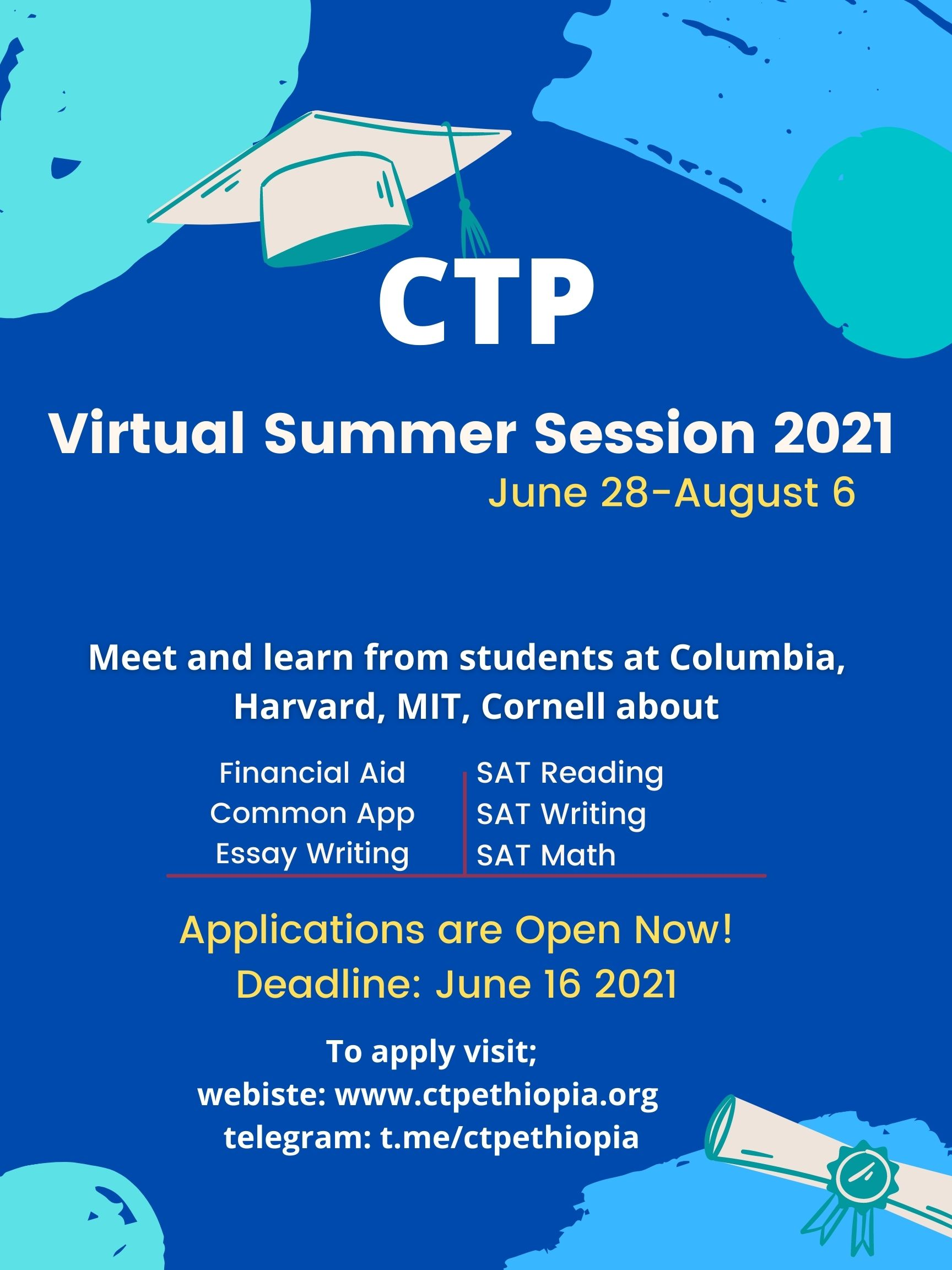 Announcing CTP Ethiopia 2021 Summer Session: Applications Open Now
